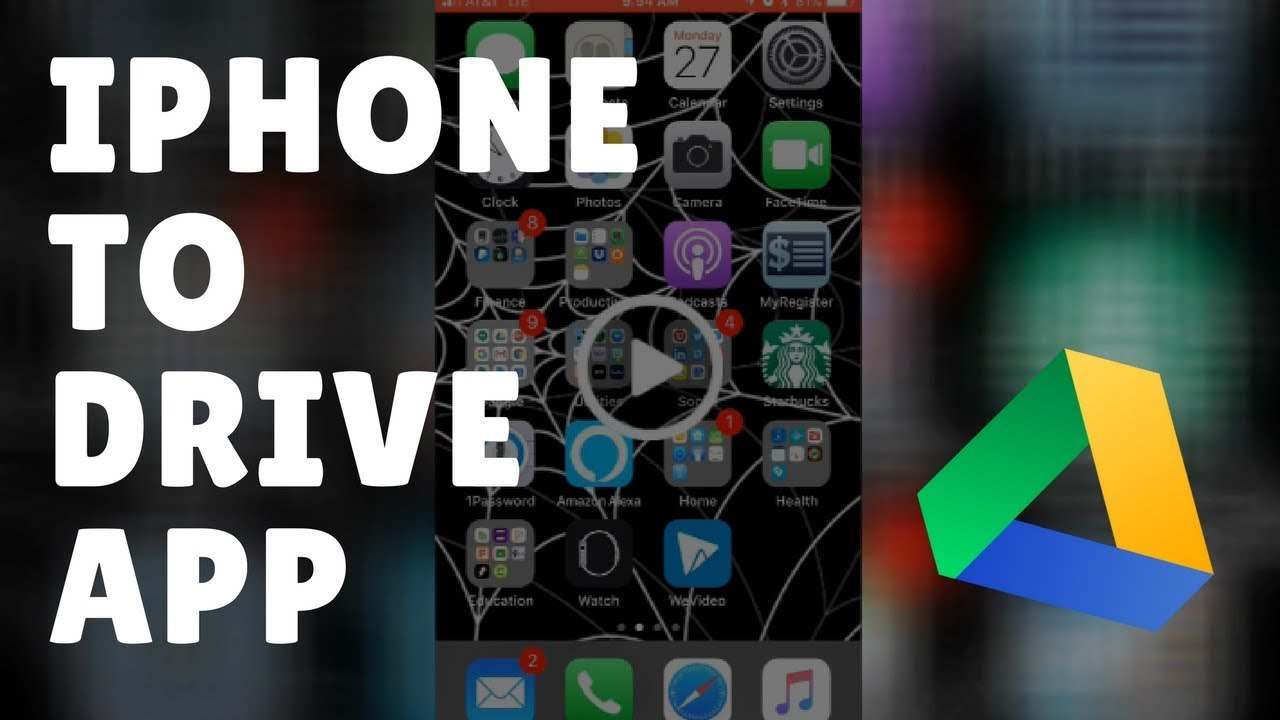 Transfer Files From Iphone Camera Roll To Google Drive App Youtube