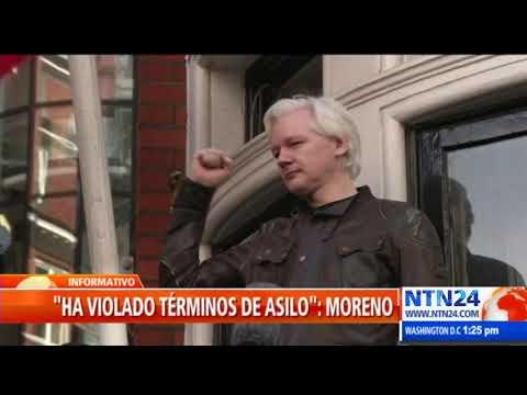 """Assange ha violado términos de asilo"": Lenín Moreno"