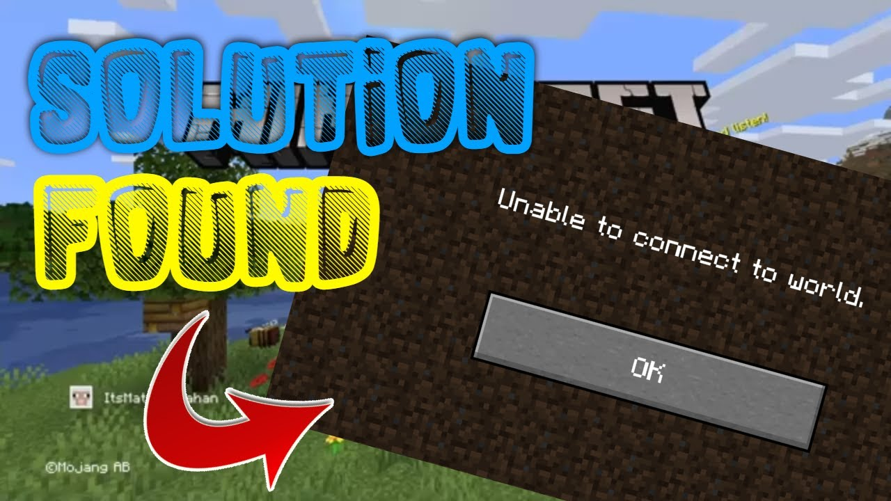 """*SOLUTION* How To Fix The """"Unable To Connect To World"""" Glitch  Minecraft"""