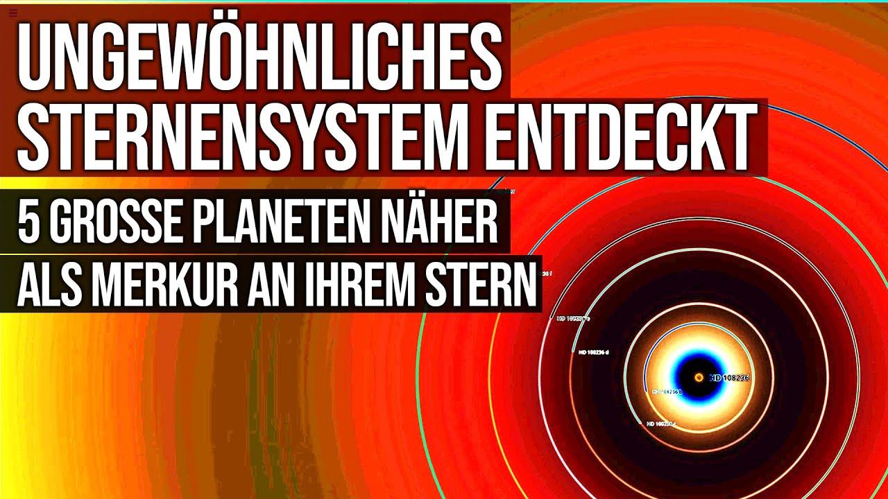 Ungewöhnliches Sternensystem entdeckt - 5 grosse Planeten näher als Merkur an ihrem Stern