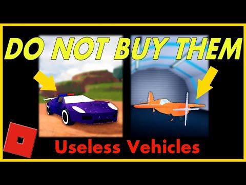 Top 10 Useless Vehicles in Jailbreak