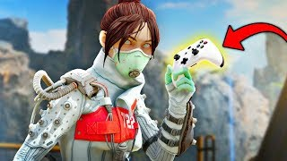 DIZZY PLAYS APEX LEGENDS WITH A CONTROLLER?!