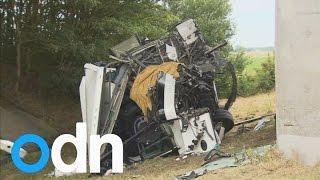 British schoolchildren in Belgium bus crash which killed Northern Irish driver