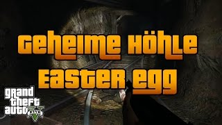GTA 5   GEHEIMER MINENSCHACHT EASTER EGG   LEICHE IN DER HÖHLE   GTA V PS4 Deutsch