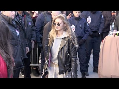 Victoria s Secret Angels Bella and Gigi Hadid, Kendall Jenner and more arriving at the Grand Palais