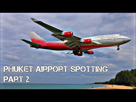 Incredible Beach Planespotting at Phuket International Airport, Thailand! | PART 2
