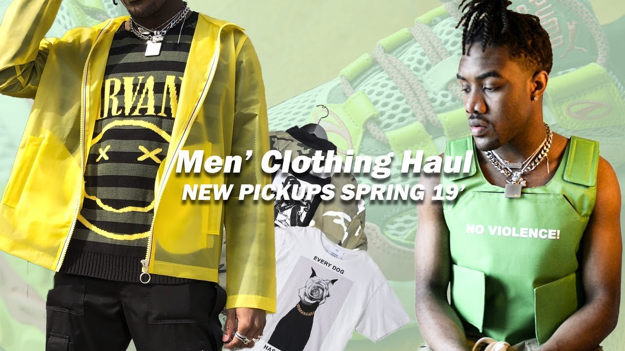 846649479f03 CRAZY Men's Clothing Haul | New Pickups Spring 2019 (Spring Summer 2019)  Streetwear & Fashion
