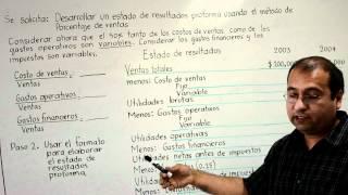 Elaboración de estado de resultados y balance proforma Ejercicio 1 (partes 1 al 5)