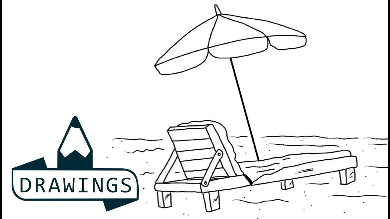Beach Chair Cartoon Drawing | www.pixshark.com - Images ...