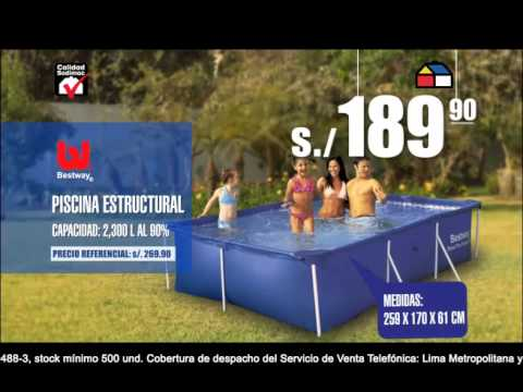 Piscina sodimac youtube for Cuanto cuesta instalar una piscina