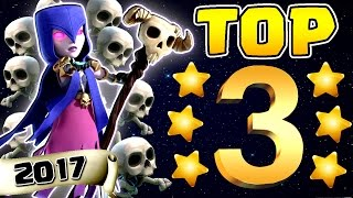 "TOP 3 ""2017"" TH9 STRONGEST 3 STAR WAR ATTACK STRATEGY 
