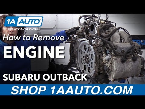 How To Remove Engine 2.5L 04-09 Subaru Outback