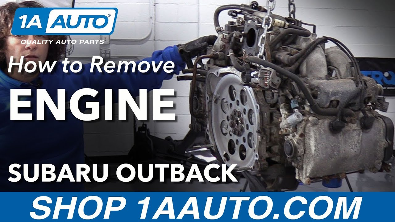 How to Remove Engine 2.5L 04-09 Subaru Outback - YouTubeYouTube