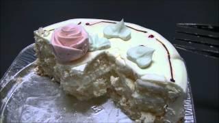 ケーキ大人食い_バタークリームケーキ【ロリアン洋菓子店】 【咀嚼音/ASMR】