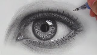 How to Draw Hyper Realistic Eyes | Step by Step thumbnail