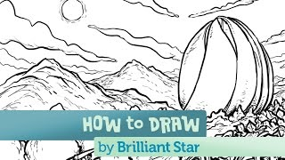 How to Draw The Bahá'í Temple in Chile: A Brilliant Star Series