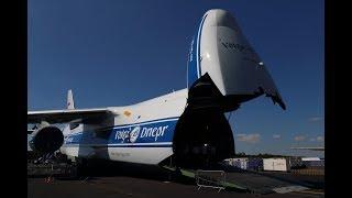 Farnborough Airshow 2018: Volga-Dnepr Loading an Antonov An-124-100 at FIA18