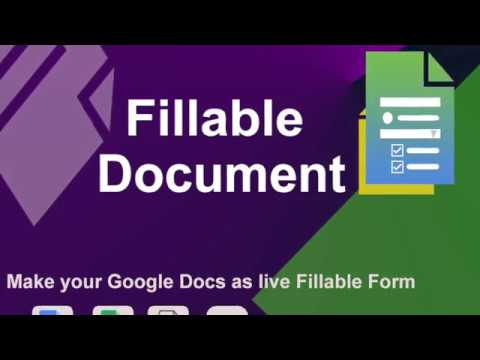 Fillable Document  - How To Make Any Google Doc As Fillable Form