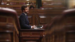 Discurso completo de Pablo Casado en la moción de censura de Vox contra Pedro Sánchez