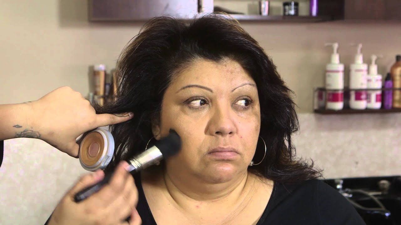 how to put makeup on over 50