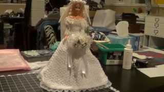 Finally Finished Friday - Barbie Crochet Wedding Gown-final