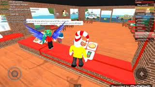 My first vid of roblox hope you enjoy:) (Work at a pizza place)