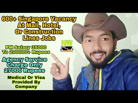 Live 35K To 2L+ PM Salary At Singapore Abroad jobs Only in 27K Service Charge