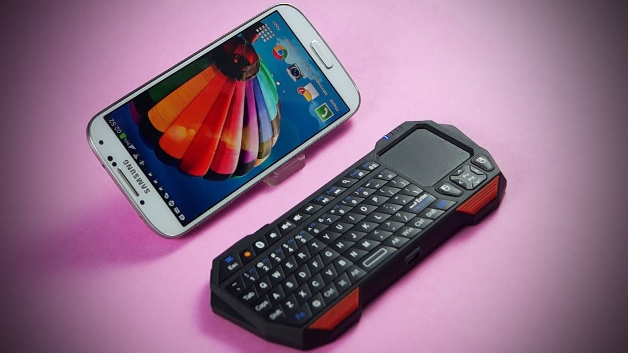 Minisuit Bluetooth Mini Keyboard W Touchpad For Android Windows Or Ios Shown On Galaxy S4 Review Youtube