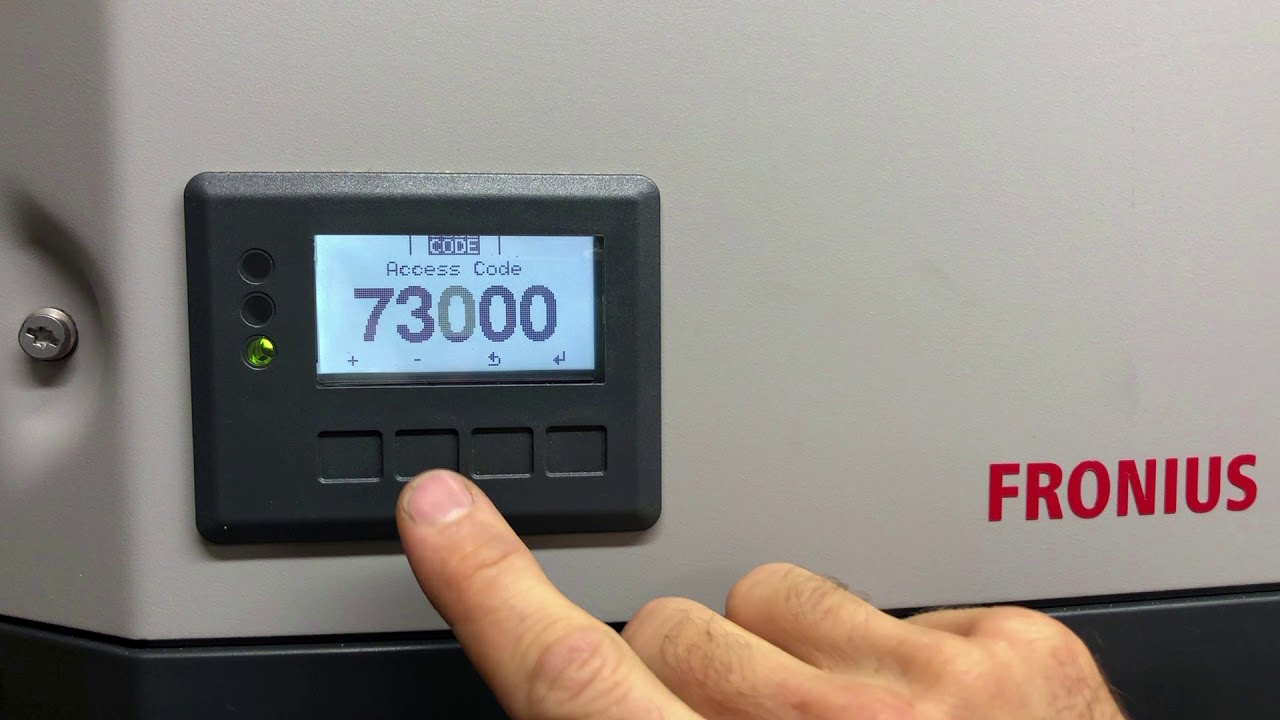 How to update or reload Fronius Inverter Country Setup