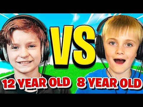 12 YEAR OLD vs. 8 YEAR OLD (Fortnite 1v1)