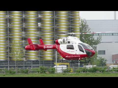 """Three air ambulances """"at once"""" at Addenbrooke's Hospital"""