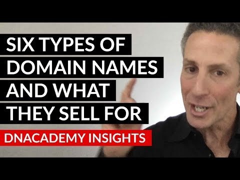 Six Types Of Domain Names And What They Sell For