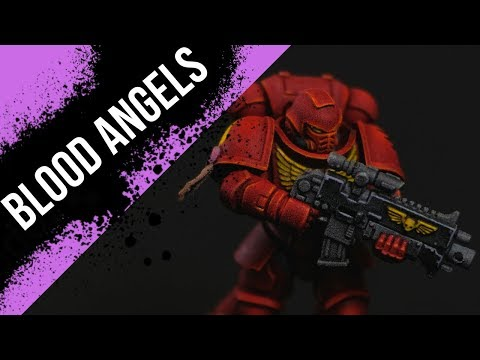 Speedpainting Blood Angels with Contrast Paints!