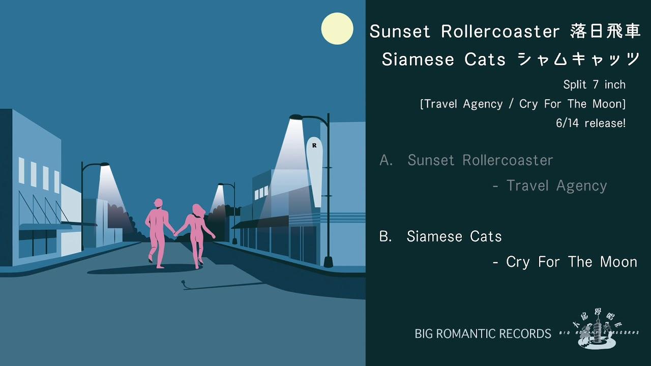 sunset rollercoaster siamese cats split 7 inch travel agency