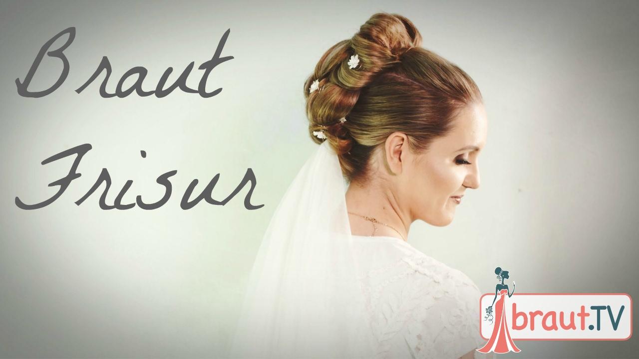 Brautfrisur Mit Schleier Und Blumen Hochzeitsfrisur