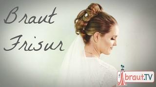 Brautfrisur mit Schleier und Blumen | Hochzeitsfrisur | Hochsteckfrisur | braut.TV