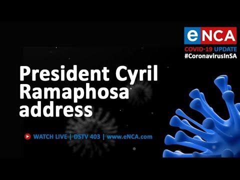 President Cyril Ramaphosa addresses the nation