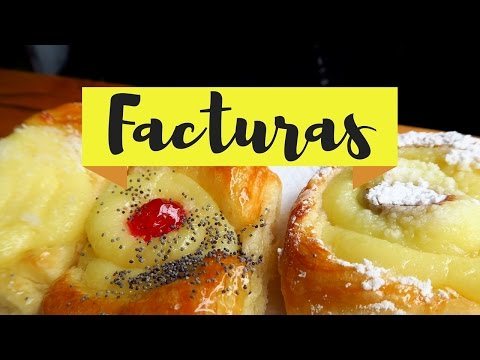 Eating facturas argentinas (Argentine pastries) in Buenos Aires, Argentina