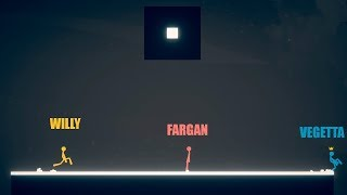 VEGETTA VS FARGAN VS WILLY   STICK FIGHT