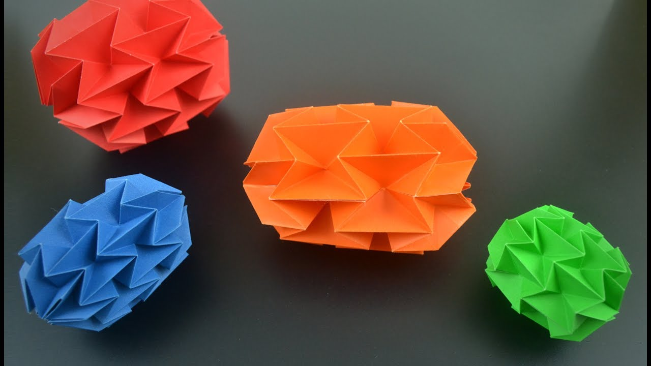 3D Rainbox Origami balloon | Easy Paper Craft | Cindy DIY The ... | 720x1280