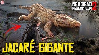 RED DEAD REDEMPTION 2 - JACARÉ GIGANTE LENDÁRIO ||  LOCALIZAÇÃO e ENFRENTANDO O MONSTRO!