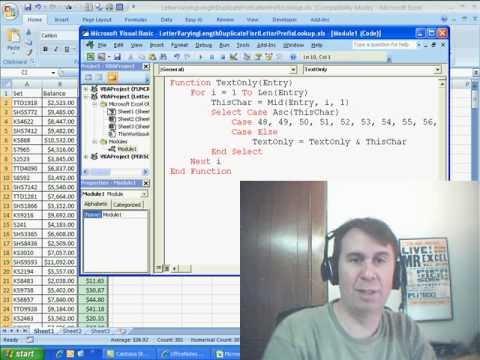 Mr Excel & excelisfun Trick 41: VBA or Formula Extract Prefix for VLOOKUP