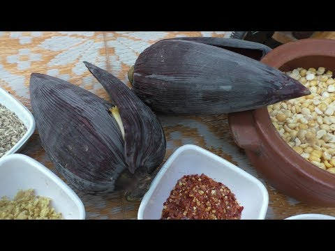village Cooking vazhaipoo recipes – Banana Flower vada/ Cooking By Village food Recipes