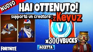 COMO ter SKIN ALPINO SOUTH COREANO e V BUCKS grátis no FORTNITE ITA PS4 XBOX PC