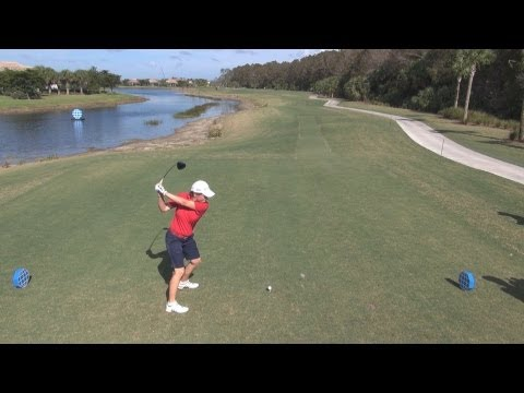 GOLF SWING 2012 - CATRIONA MATTHEW DRIVER - ELEVATED DTL & SLOW MOTION - HQ 1080p HD