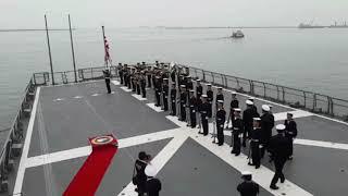 練習艦隊カヤオ入港後の栄誉礼/ Training Squadron saluted Peruvian Navy commander at Callao