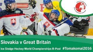 Slovakia v Great Britain | Prelim | 2016 Ice Sledge Hockey World Championships B-Pool, Tomakomai