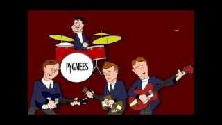 Silber Pygmees Cartoon: cr: 1966 Deckung ''Hanky Panky '' Lieder von Elvis und Den Beatles zu