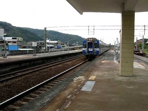 The Taiwan TRA down Local Train No. 5937 (Tongluo to Dajia) EMU 500 EM 584 at Sanyi Station
