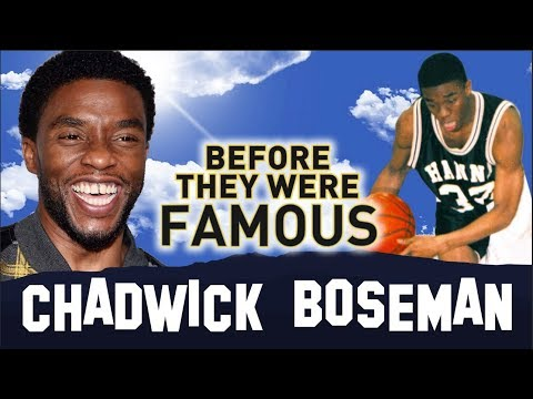 CHADWICK BOSEMAN | Before They Were Famous | Black Panther King T'Challa